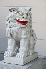 難波神社の狛犬