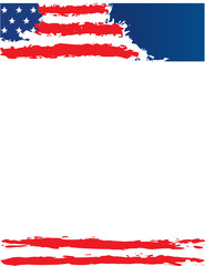 United States of American Flag Border Template