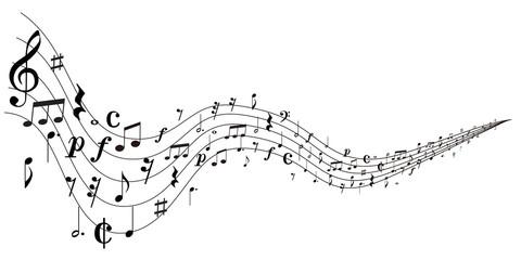 音符 楽譜 シルエット 背景