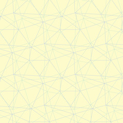 Geometric seamless pattern. Beige background with blue and green elements
