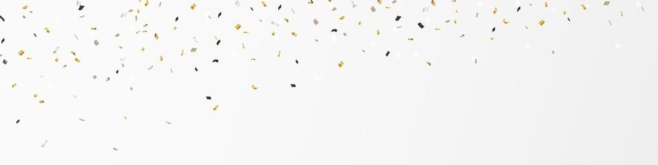 Gold confetti banner