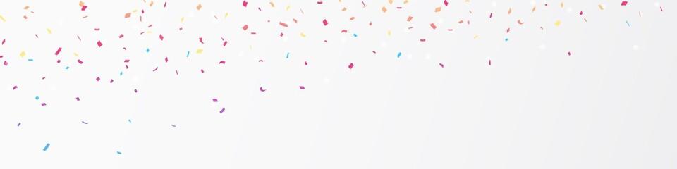 Colorful confetti banner