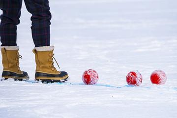 Stivali sulla neve