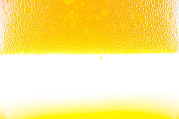 background beer with foam and bubbles