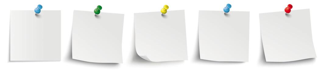 Obraz 5 White Sticks Colored Pins Header - fototapety do salonu