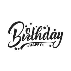 Happy Birthday lettering vector design. Happy Birthday label badge design