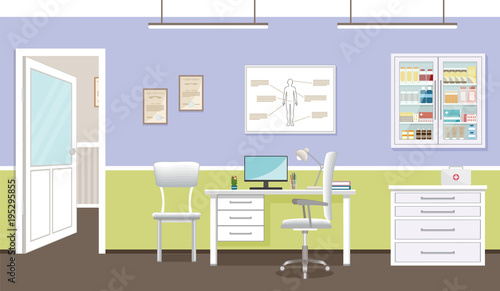 Admirable Doctors Consultation Room Interior In Clinic Hospital Download Free Architecture Designs Embacsunscenecom