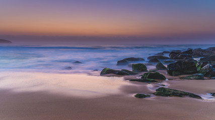 Hazy Dawn Seascape