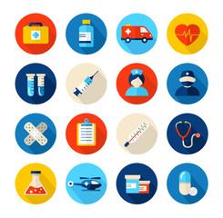 Collection of medical icons, can illustrate any medical or healthcare topic