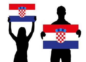 Zwei Fans - Kroatien