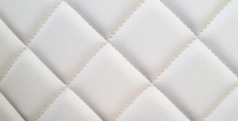 Weiße Leder Textur im Karo Muster