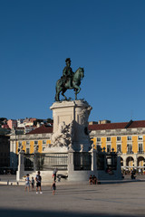 Wall Murals Europa Equestrian Statue of King Jose I in Commerce Square in Lisbon, Portugal