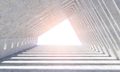 modern concrete interior 3d
