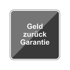 Geld zurück Garantie - Reflektierender App Button