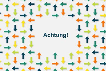 Wallpaper Pfeile - Achtung