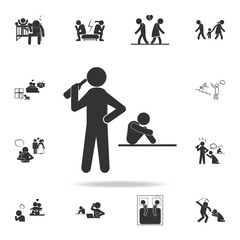 parents of alcoholics icon. Detailed set of illustration bad family icons. Premium quality graphic design. One of the collection icons for websites, web design