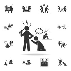 family problem with alcohol icon. Detailed set of illustration bad family icons. Premium quality graphic design. One of the collection icons for websites, web design