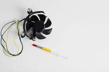 Computer fan with a broken blade