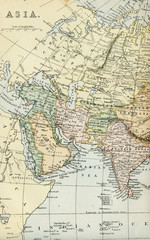 Vintage Map of Asia - Early 1800 World Maps