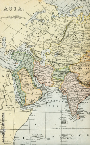 Vintage Map of Asia - Early 1800 World Maps\