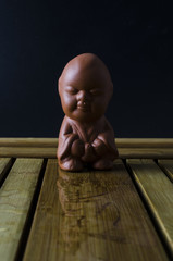 clay boy statuette for Chinese tea ceremony