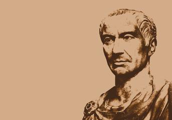 César - Jules César - portrait - personnage historique - personnage célèbre - empereur - romain