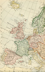 Vintage Map of Europe - Early 1800 Antique Maps of the World