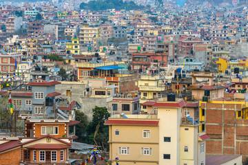 Residential area in Kathmandu city, Nepal
