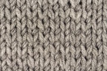 0b94db4205fe94 Gray knitting wool texture background. Macro