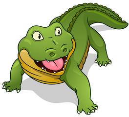 Cartoon crocodile Vector illustration.