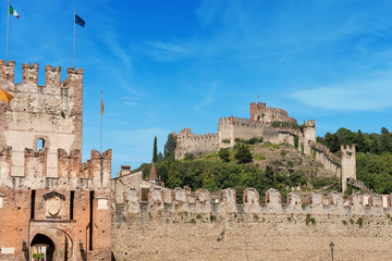 Medieval Castle (Scaligero) of Soave near Verona Italy