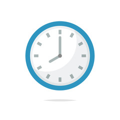 Clock icon vector isolated