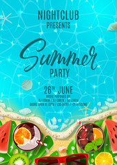 Summer party poster invitation