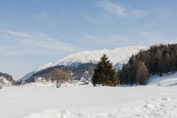 St. Moritz, Engadin, Oberengadin, St. Moritzersee, Muottas Muragl, Winter, Wintersport, Winterwanderweg, Alpen, Graubünden, Schweiz