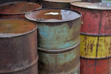 Old Oil Barrels