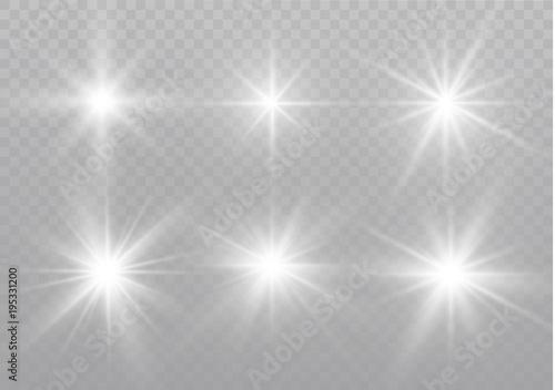 star on a transparent background,light effect,vector illustration