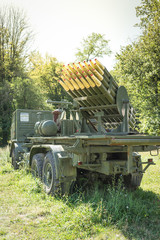Truck with rockets
