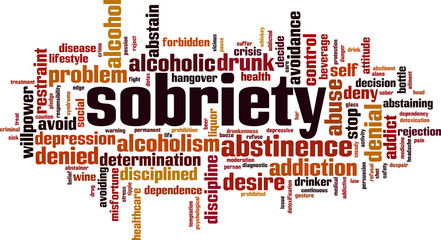 sobriety word cloud