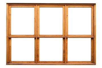 Frame of a wooden window of a coffeehouse