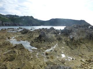 Playa de Pechon cercana a Pesues en Cantabria (España)