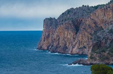 Rugged coastal landscapes along the western coast of Majorca (Mallorca), Balearics Islands, Spain