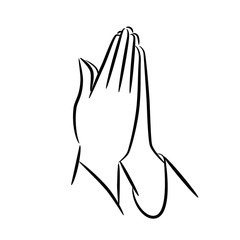 Praying hands icon. EPS10 vector illustration.