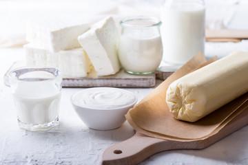 Fresh handmade farm  organic dairy products
