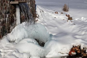 Source Latvia.Batas beautiful, cold winter day