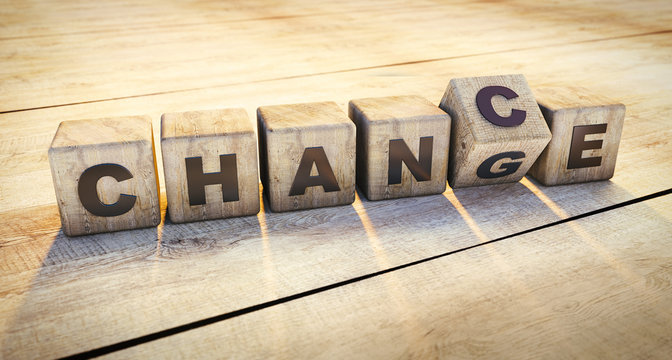 Holzwürfel Motiv Change - Chance