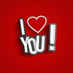Love, Valentines Day Design On Background vector illustration