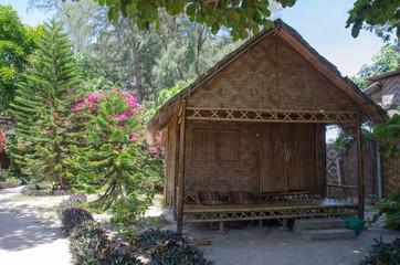 Wooden bamboo house, resort at Lipe island,Thailand