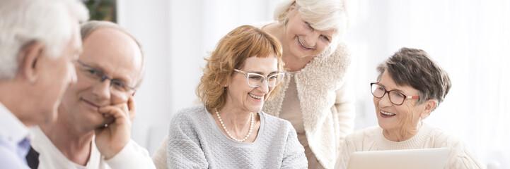 Older ladies searching the internet