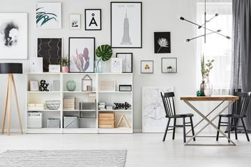 Shelf in dining room