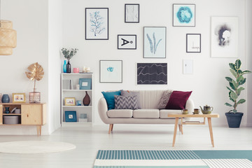 Posters in modern living room